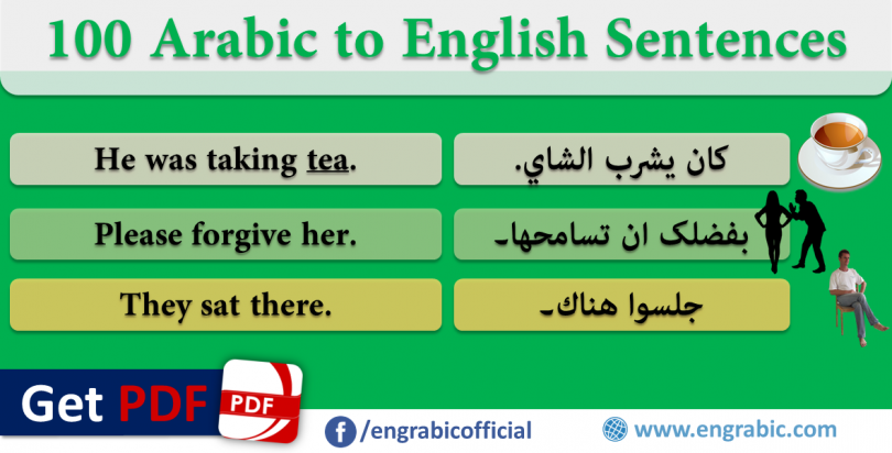 Arabic to English Sentences for Common use - Basic 100 Sentences