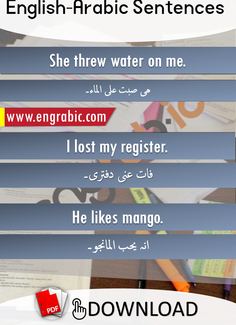 English to Arabic translation in English letters for beginners