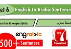 common english to arabic sentences set6