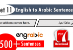 Arabic to Hindi Sentences for Daily use with English Letters
