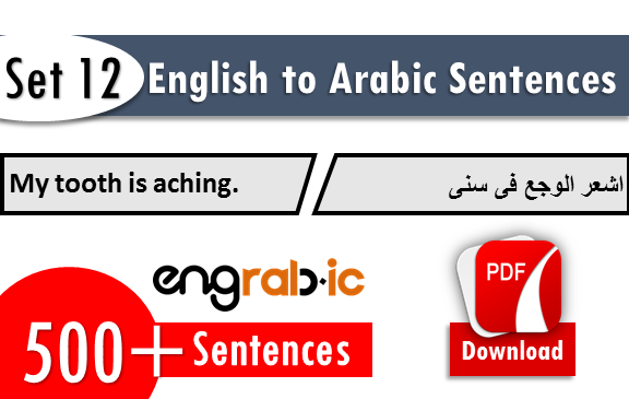 arabic to english sentence set 12