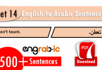 Arabic sentences in English