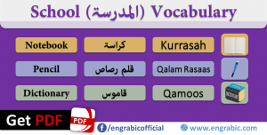 School Vocabulary In Arabic and English – Classroom