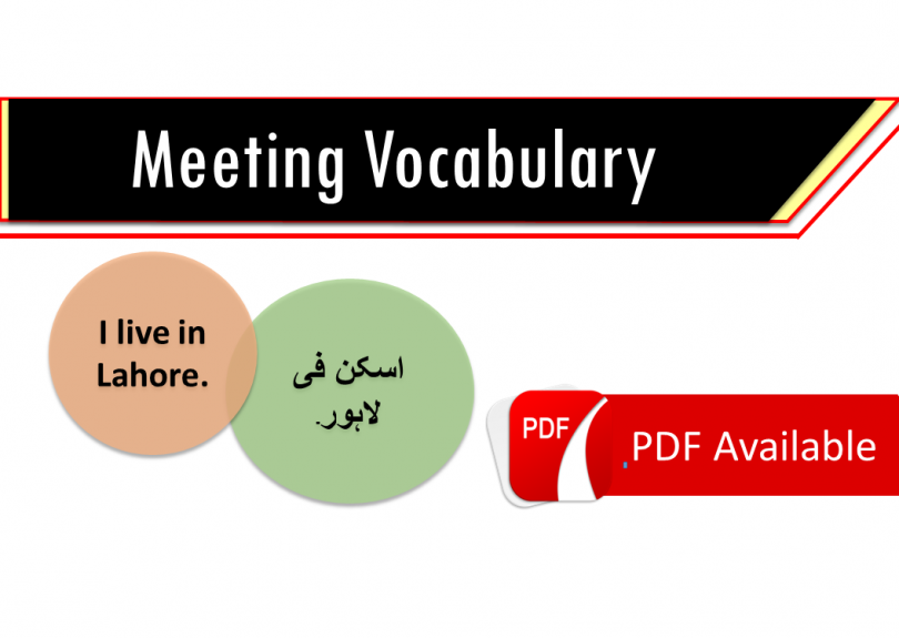 daily routine dialogue in Arabic-English