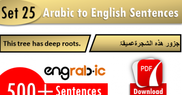 Random Arabic to English phrases