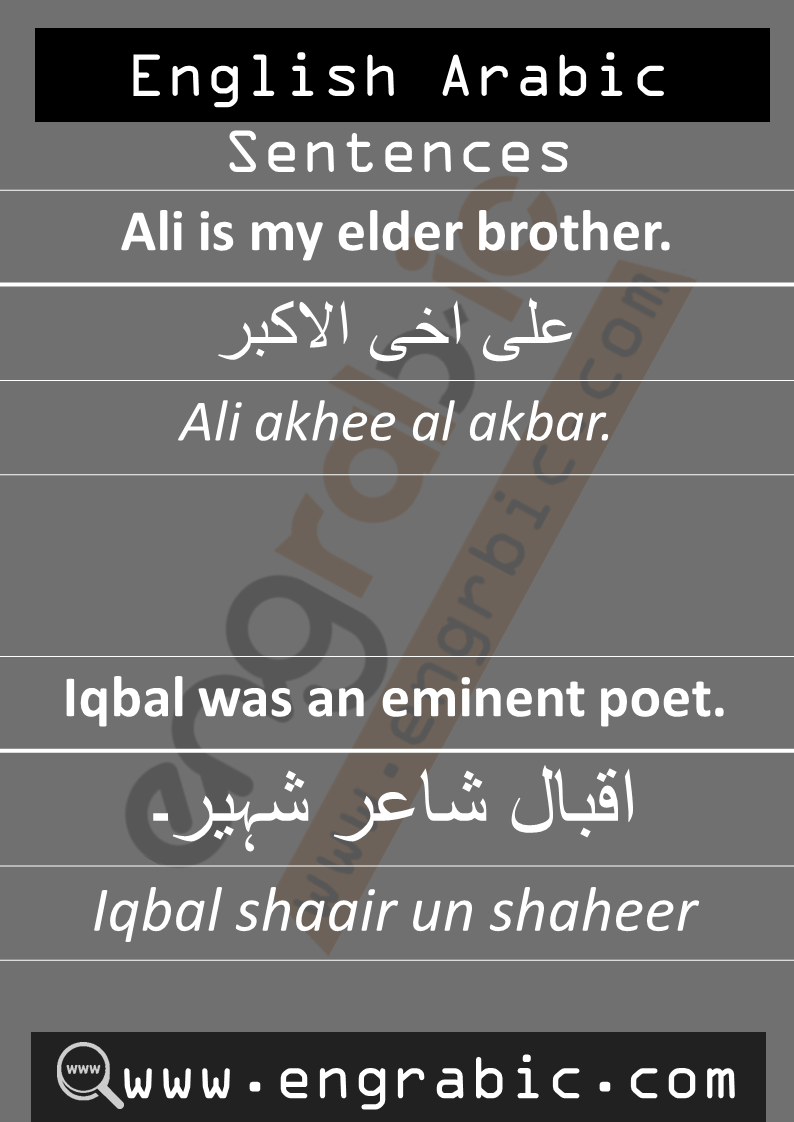 Arabic Sentences with English. English sentences in Arabic. Daily used short Arabic phrases in English. Common English Phrases.