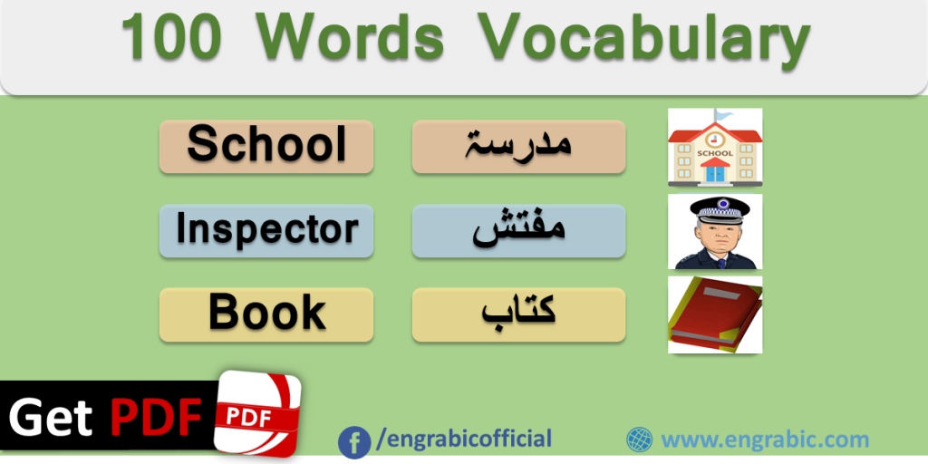 Most Important Arabic Words with English Meanings – 100