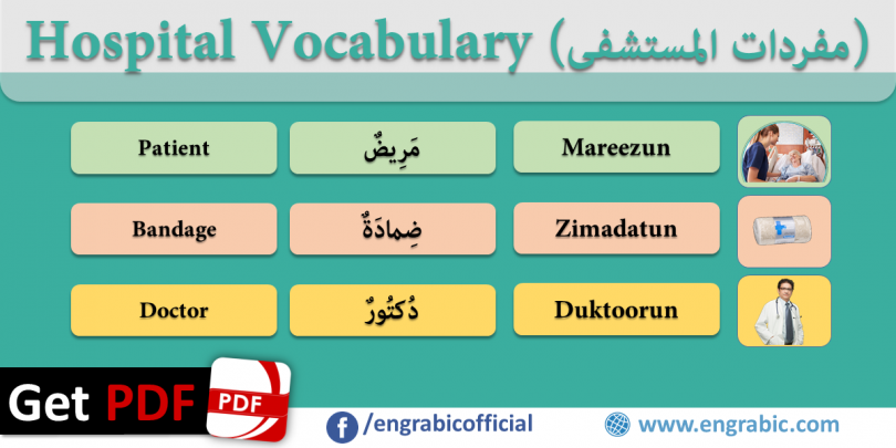 Hospital Vocabulary and Medical Terms in Arabic and English.