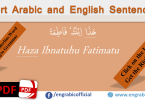 Short English and Arabic Sentences for exercise. Arabic and English Sentences for exercise and Practice. Practice Arabic and English Sentences to learn daily spoken Arabic and English sentences. Sentences Exercise for beginners.
