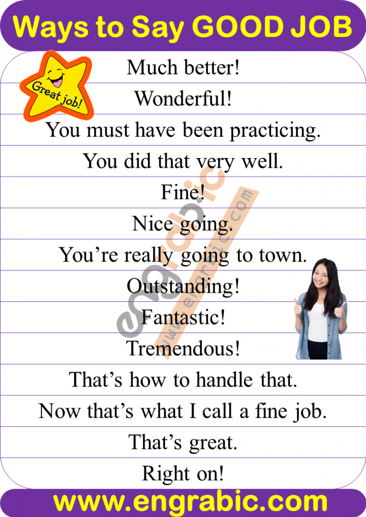 Good Job Synonyms and related words. 100 Words to use instead of Good Job