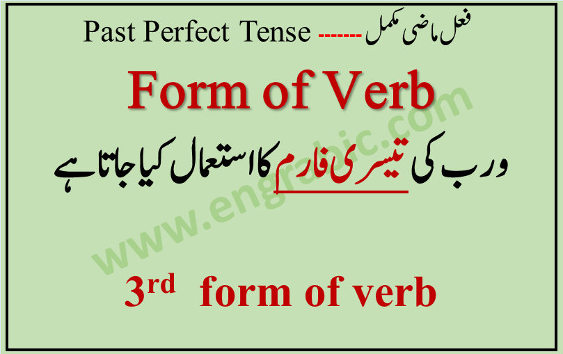 "Third form of verb is used in Past Perfect Tense. Third form of verb is used with the helping verb ""Had"" because the action has been finished."