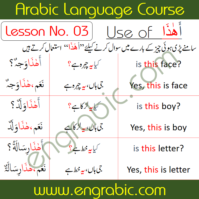 Today we are going to start a brand new course for all the people starving to Learn Arabic. This course is designed for you only. Today we will learn the first lesson of the course. Stay tuned to us for more lessons.