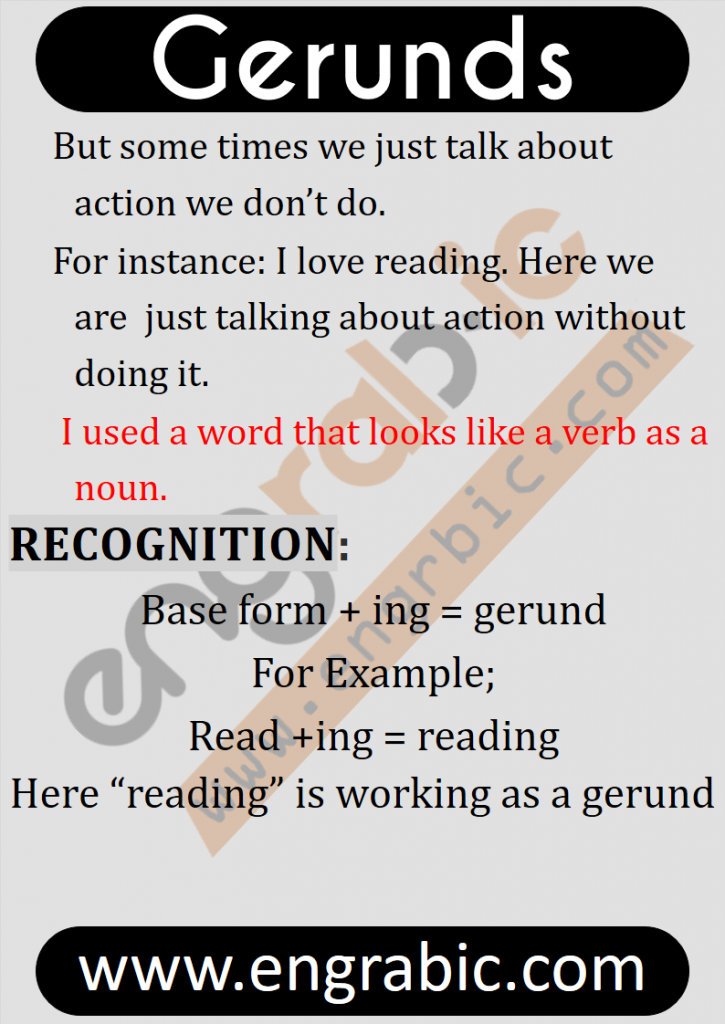 Today's lesson is all about Gerunds. In this lesson, we'll cover each and everything about Gerunds and will try to make our concepts clear using examples. Starting from definition, we will end this topic with different uses of Gerunds in different situations.